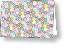 Hexagonal Cubes Greeting Card