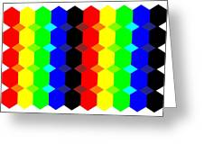 Hexes Fill In Colors Greeting Card