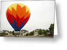 Hey Mom There Is A Big Balloon In Our Driveway Greeting Card