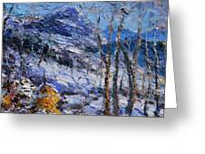 Heystack In The Snow Greeting Card