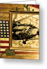 Hh-60 Pave Hawk Rustic Flag Greeting Card