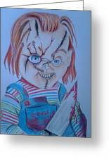 Hi I'am Chucky  Wanna Play Greeting Card