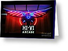 Hi-vi Arcade Greeting Card