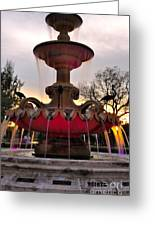 Hialeah Fountain Greeting Card by Andres LaBrada
