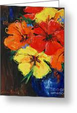 Hibiscus Colours Greeting Card
