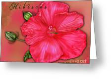 Hibiscus Digi Greeting Card