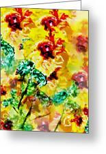 Hibiscus Impressionist Greeting Card