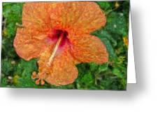 Hibiscus Van Gogh Greeting Card