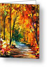 Hidden Emotions - Palette Knife Oil Painting On Canvas By Leonid Afremov Greeting Card