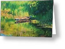 Hidden Fish Boat Greeting Card