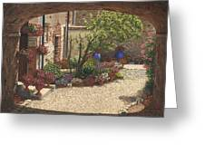 Hidden Garden Villa Di Camigliano Tuscany Greeting Card
