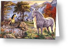 Hidden Images - Horses Greeting Card by Steve Read