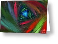 Hidden Jungle Plant-abstract Fractal Art Greeting Card