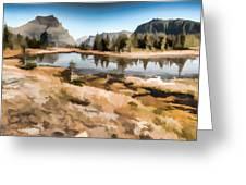 Hidden Lake Trail Glacier National Park Greeting Card