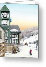 Hidden Valley Ski Resort Greeting Card by Albert Puskaric