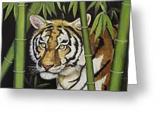 Hiding In The Bamboo Greeting Card