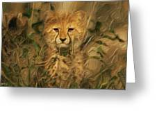 Hiding In The Tall Grass Greeting Card