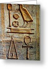 Hieroglyphics At Amada Greeting Card
