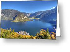 High Above Halstatt Greeting Card