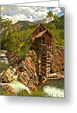 High Above The Crystal River Greeting Card by Adam Jewell