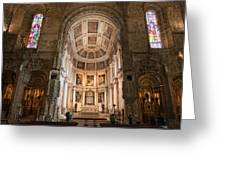 High Altar In Church Of Jeronimos Monastery Greeting Card