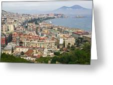 High Angle View Of A City, Naples Greeting Card