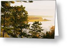 High Angle View Of A River, Ausable Greeting Card