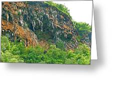 High Cliffs Along River Kwai In Kanchanaburi-thailand Greeting Card