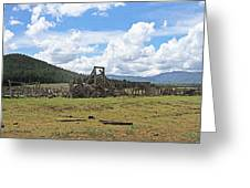 High Country Roundup The Old Days Greeting Card