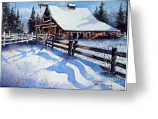 High Country Snow Greeting Card