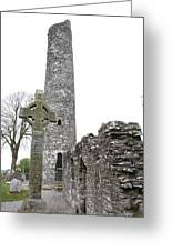 High Cross And Round Tower Monasterboice Greeting Card