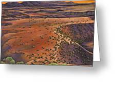 High Desert Evening Greeting Card