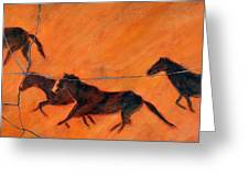 High Desert Horses - Study No. 1 Greeting Card