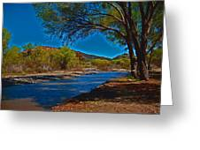 High Desert River Bed Greeting Card