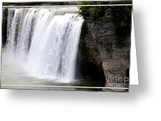 High Falls In Rochester New York Greeting Card