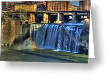 High Falls Rainbow Greeting Card