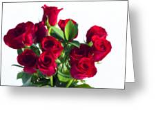 High Key Red Roses Greeting Card