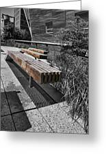 High Line Benches Black And White Greeting Card