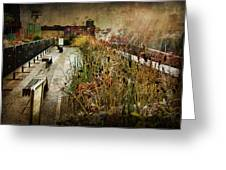 High Line Park In The Rain New York Greeting Card