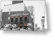 High Line View Of Architecture Black And White Greeting Card