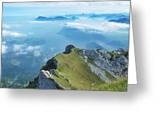 High On Nature At Mt. Pilatus Greeting Card