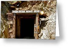High Peak Mine Greeting Card by Denise Mazzocco