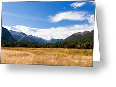 High Peaks Of Eglinton Valley In Fjordland Np Nz Greeting Card