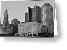 Columbus Close Up Black And White Greeting Card
