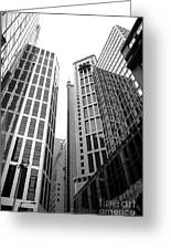 High Rise Building In The Financial Center Of Hong Kong Greeting Card