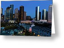 High Rise Buildings In Houston Greeting Card