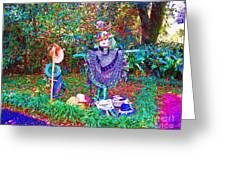 High Satch Scarecrow In A Hat Greeting Card