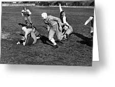 High School Football, 1941 Greeting Card