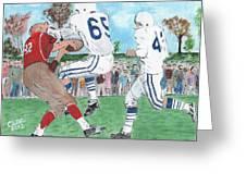High School Football Greeting Card