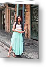 High School Senior Portrait French Quarter New Orleans Greeting Card